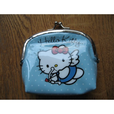 Porte monnaies Hello Kitty bleu