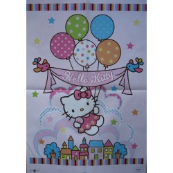 """Poster A2 Hello Kitty """"Baloons"""""""