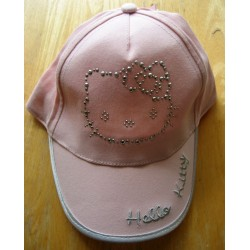 Casquette Hello Kitty rose strassée T54
