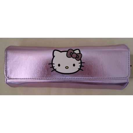 Trousse Hello Kitty mauve brillante aimantée 21x9x4cm