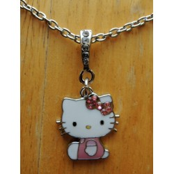 """Collier Hello Kitty """"Kitty assis"""" strassé L48cm"""