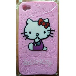 Coque souple pour Iphone 4/4S Hello Kitty rose