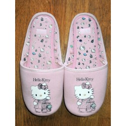 """Chaussons Hello Kitty rose """"Oiseaux"""" T40-41"""