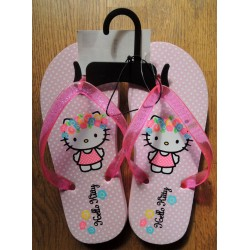 """Tongs Hello Kitty rose à poids blancs 'Hawai"""" pointure 32-33"""
