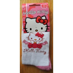 Chaussettes Hello Kitty rose et blanches T35-37