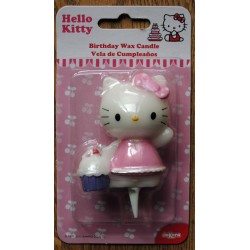 """Bougie d'anniversaire """"Cup cake"""" Hello Kitty 7cm"""