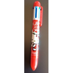 Stylo a billes 4 couleurs Hello Kitty rouge