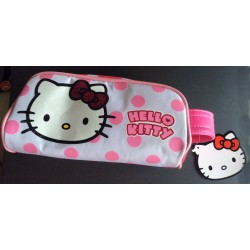 Trousse Hello Kitty a poids roses 21x11x5cm