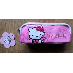 "Trousse Hello Kitty rose ""Flowers"" 20x10x5cm"