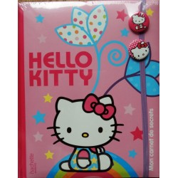 Journal intime Hello Kitty rose avec pins 22x18cm