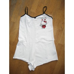 "Combi Short Hello Kitty Blanc ""Cocinelle"" Taille S"