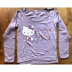 Debardeur Hello Kitty mauve manches longues Taille S