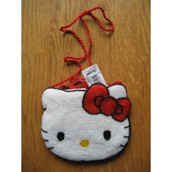 Sac à mains Hello Kitty perlé 16x16cm