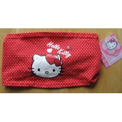 Bandeau pour cheveux Hello Kitty rouge vichy