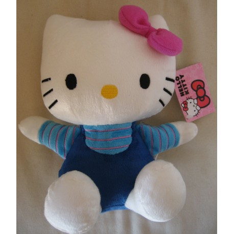 Peluche Hello Kitty bleu de L 20 cm
