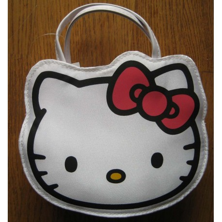 Mini sac à mains Hello Kitty blanc 17x14cm