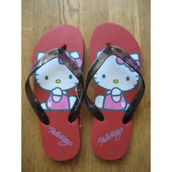 Tongs Hello Kitty rouges pointure 39