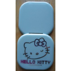 Miroir Hello Kitty vert kit strass carré 7cm