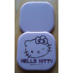 Miroir Hello Kitty mauve kit strass carré 7cm.