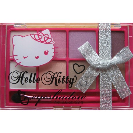 """Palette de Maquillage Hello Kitty """"fards à paupières"""" 6 tons """"Kitty Pink"""" rose"""