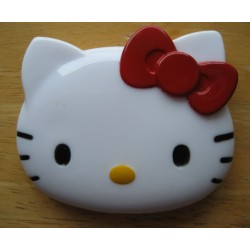 "Miroir et peigne Hello Kitty ""tete de Kitty"" 7cm."