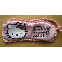 Masque de nuit Hello Kitty rose