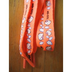 Lacets Hello Kitty oranges longueur 120cm