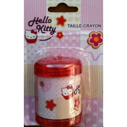 "Taille crayons Hello Kitty ""Cup Cakes"" rouge 6x4.5x5.5cm"