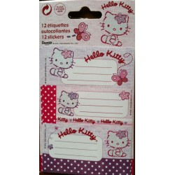 "Lot de 12 étiquettes Hello Kitty ""Cup Cakes"""