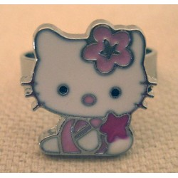 "Bague Hello Kitty ""Kitty star"" en métal Taille Unique"