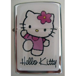 Briquet ZIPPO à essence Hello Kitty blanc