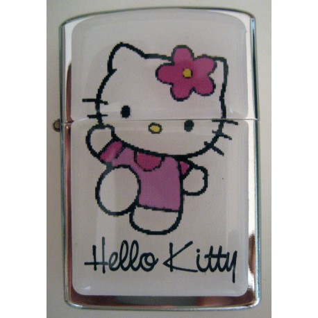 Briquet Tempete Hello Kitty blanc