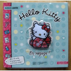 "Livre Hello Kitty educatif ""Hello Kitty en voyage"" 15x15cm"