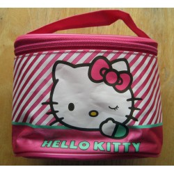 Trousse Hello Kitty rose ovale 16x12x9cm