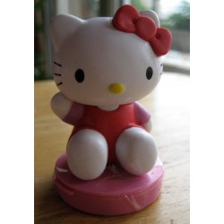 "Figurine Hello Kitty  ""Ecolier"" tampon encreur H 7cm"
