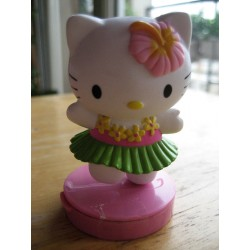 "Figurine Hello Kitty  ""Tahitienne"" tampon encreur H 7cm"