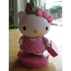 "Figurine Hello Kitty  ""Ecoliere"" tampon encreur H 7cm"