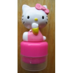 Mini tampon encreur Hello Kitty rose 5cm
