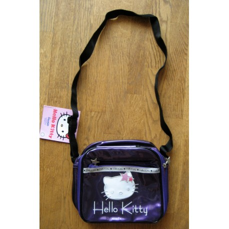 Sac Hello Kitty mauve metalisé 22x19x9cm