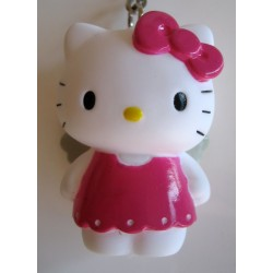 "Porte clés Hello Kitty musical ""Angel rose"" H :5.5cm"