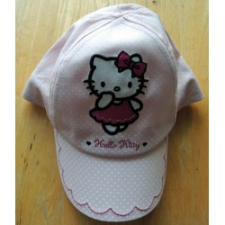 "Casquette Hello Kitty rose à poids blancs ""Danseuse"" taille 51-52"