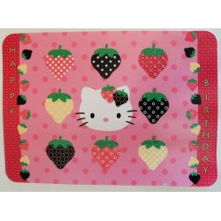 "Carte postale Hello Kitty Happy Birthday ""Fraise"""