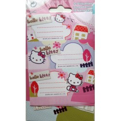 Lot de 12 étiquettes Hello Kitty
