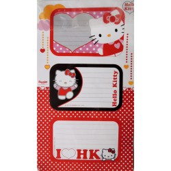 Lot de 6 étiquettes Hello Kitty