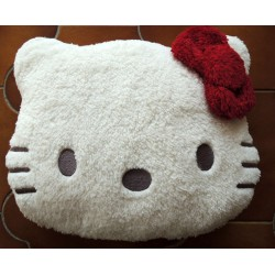 "Peluche Hello Kitty Tete de Kitty ""range pyjama"" 34x28cm"