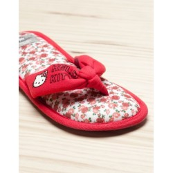 "Chaussons Hello Kitty roses ""Stop and smell the roses"""