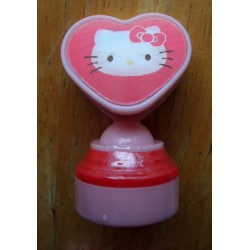 Mini tampon encreur Hello Kitty rose avec Hologramme 5cm