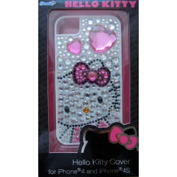 Coque Iphone 4 et 4s Hello Kitty blanche strassée