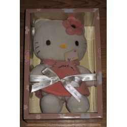 "Peluche Hello Kitty ""Petite fille"" H 29cm"