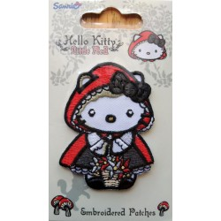"Ecusson Hello Kitty thermo collant ""Petit chaperon rouge"" de 6,5cm"
